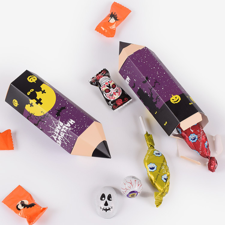 New Halloween Paper Gift Box Good Quality pencil cartoon candy gift box