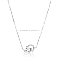 925 Sterling Silver Shooting Star Mini with Wish Pendant Necklace