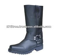 NEW MOTORCYCLE LONG TOURING RING BOOTS