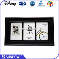 Wholesale 3 openning 4x6 wooden funia photo frame