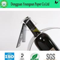 High-end black label for wine black paper board material