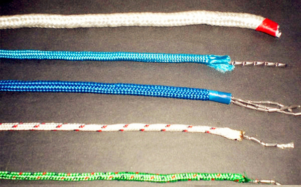 PE Braided rope with lead for fishing