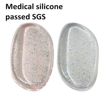 Sofeel newest medical silicone glitter silisponge makeup sponge