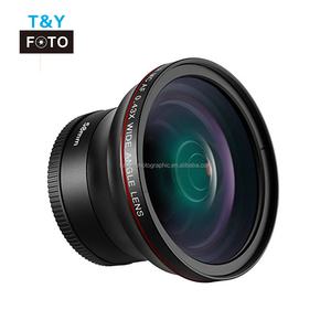 No Distortion 58mm 0.43X HD Wide Angle Macro Lens for Canon EOS Rebel DSLR Cameras