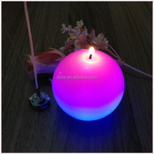 LED color changing real wax christmas ball candles
