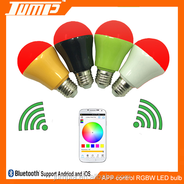 Factory RGBW colors changing dimmable APP mini smart led bulb light