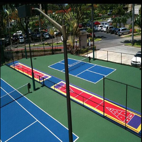 F cil de instalar diy cancha de baloncesto pickleball for Diy sport court