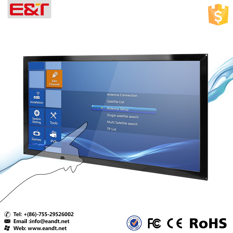23 inch infrared touch screen for kiosk with tempered glass anti-vandal
