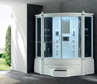 Bath Tub Steam Room shower Steam Engine Model Led Light Shower Steam Shower Room with Sauna and Massage Bathtub 2013 G150