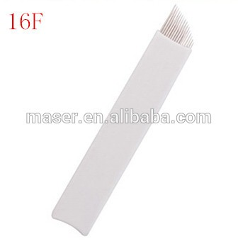 Microblading shading blade for manual permanent makeup pen