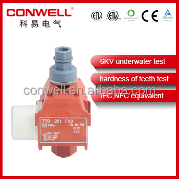 Insulation Piercing Connector for adss cable / waterproof cable clamp
