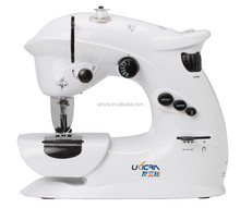 domestic portable automatic battery operated double speed mini led light sewing machine