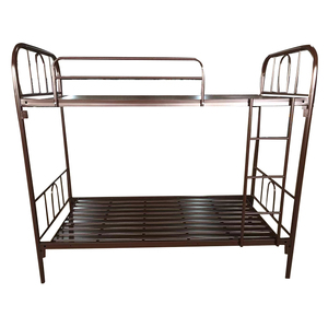 Cheap high quality modern school used customized wrought iron full size double 2 layer bed