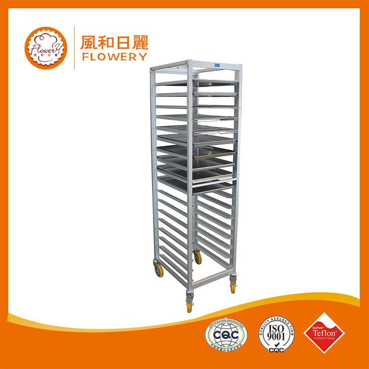 Plastic stainless steel bakery bread rack trolley cart made in China