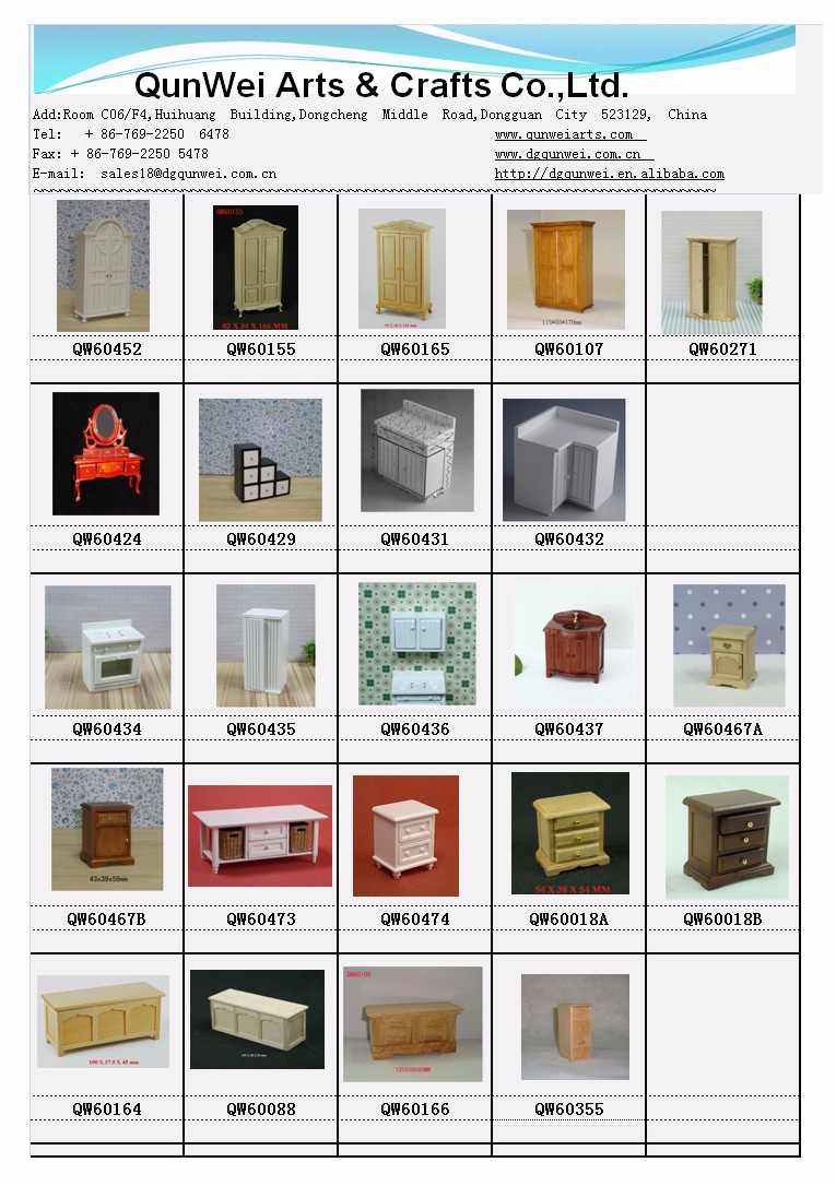 1:12 Salce Dollhouse Wooden Miniature Cabinets , Dollhouse Miniature end table
