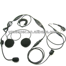 Racing half face helmet headset for Yaesu Vertex handheld radio VX-180 VX-210 VX-228 VX-230 VX-231 VX-298 VX-350 VX-351 VX-354