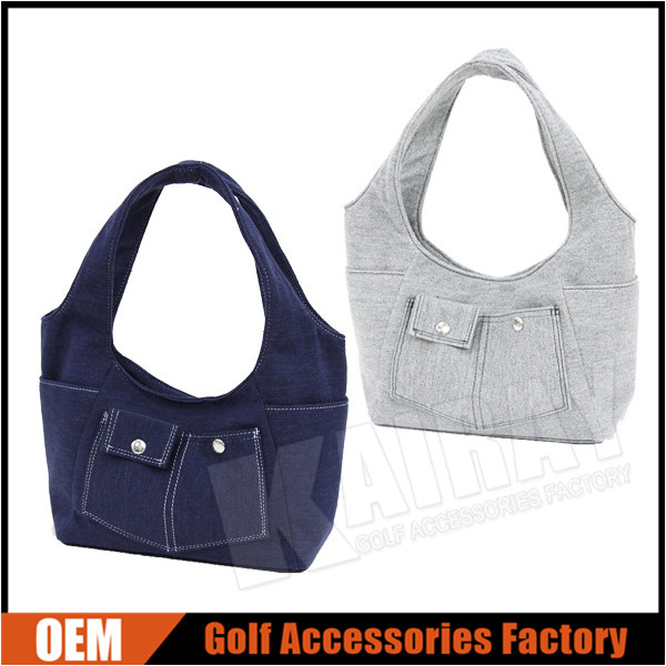 Japanese style Golf Tote Bags, ladies golf pouch, cheap golf tote
