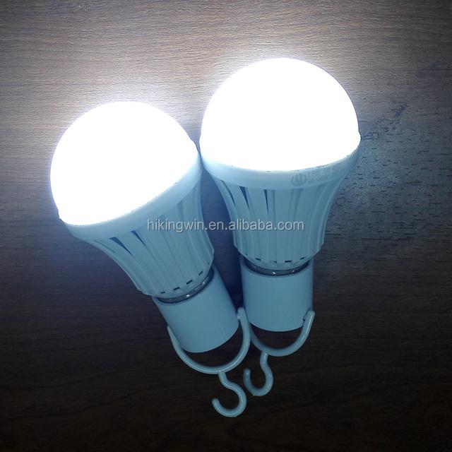 AC85-275V 12V dc Rechargeable 60W Equivalent 5W Cool White E27 E26 intelligent emergency 12V dc led light bulb 5w B22