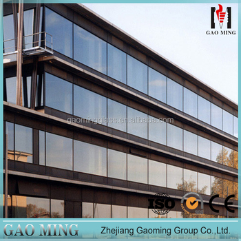 Facade Curtain Wall Glazing Heat Insulated Low-E Glass Curtain Wall Design 1763