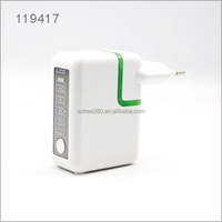Multi functional 2 in 1 USB wall charger travel charger 2600MAH power bank with LED Charging Display EU US UK AU CN plug