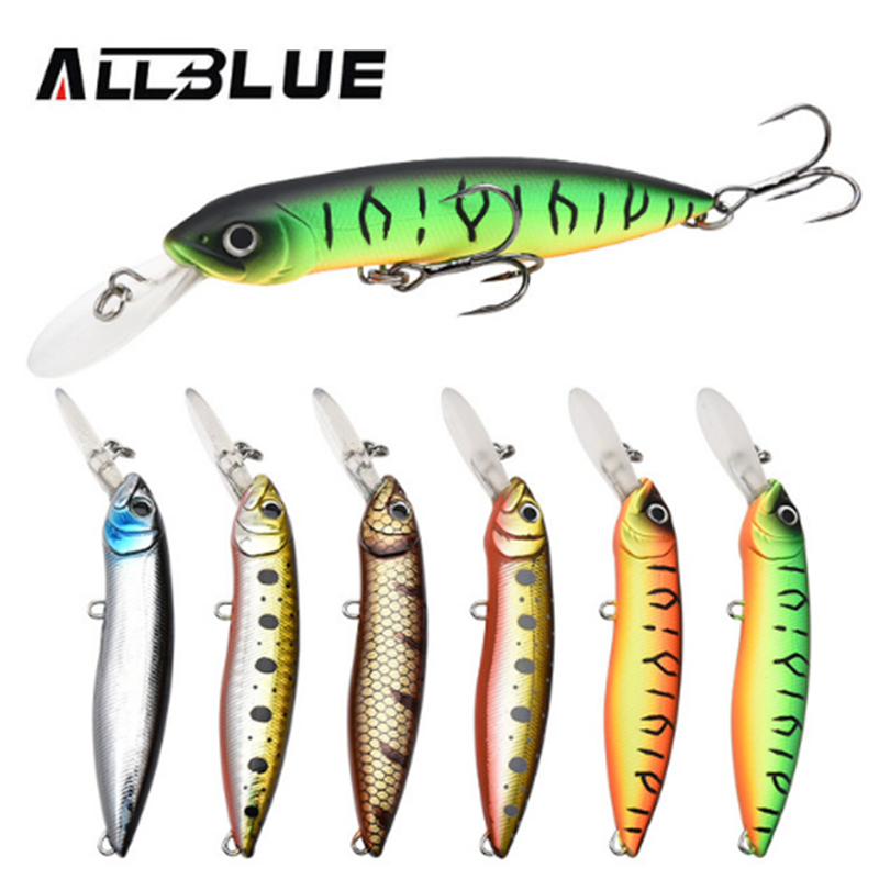 ALLBLUE New Floating Minnow 10cm 18.5g Swimbait Pike Hard Bait For Bass <strong>Fishing</strong> Lures Isca Pesca Artificial Bait