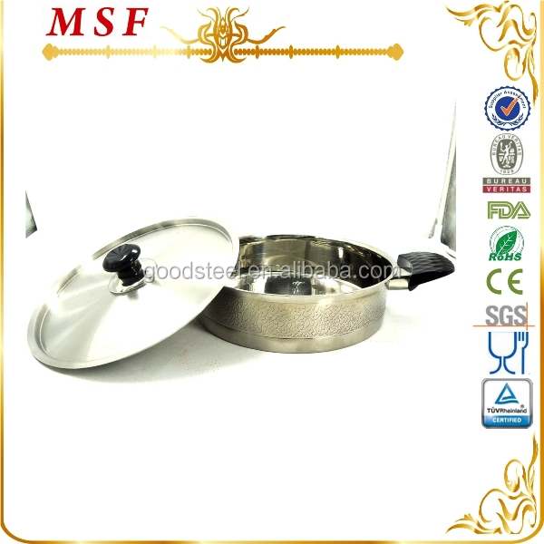 MSF-3049 wholesale technique stone super capsule bottom cookware with embossment finish
