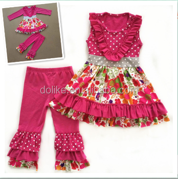 Wholesale boutique clothing high quality fancy baby clothes fashion