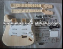 Unfinished Basswood Body Double Neck Guitar Kit for sales