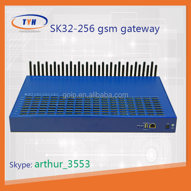 Big promotion for avoid blocking 32 channels SK32-256 gsm voip call forward gsm gateway