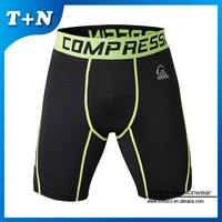 new custom gym wear , printed compression shorts, black compression wear