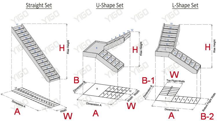 Wooden Folding Staircase/modular Staircase Kits