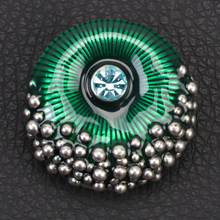 Fashion multiple elegant evil eyes pattern crystal magnet hijab brooch
