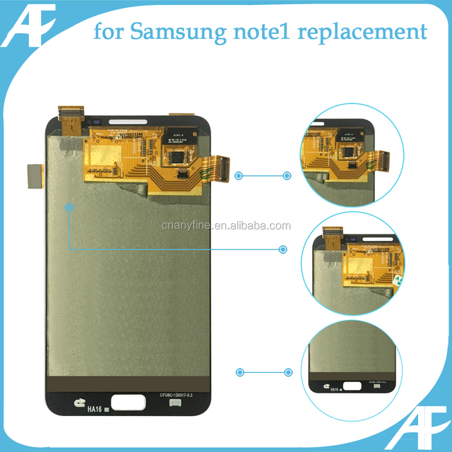 replacement lcd display touch screen digitizer for Samsung Note 1 lcd display assembly