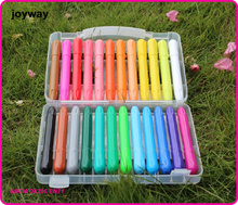 24colors Washable Rotary Oil Pastels crayons with EU and US standerd