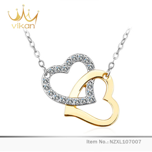 Lovers gift sterling marriage chain 18K gold silver necklace