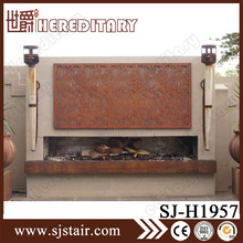 CNC laser carving antique bronze fireplace screen