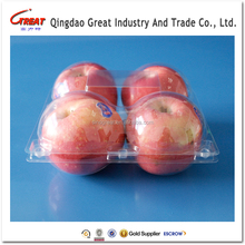 Clear Clamshell Packaging Plastic Fresh Apple Fruit Container