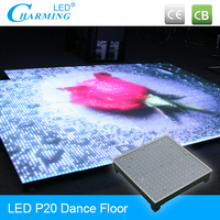 Full color high brightness illuminated floor for sale