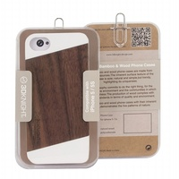 Innovative Wood Case for Apple iPhone 5S Original Bamboo/ Wooden Case for Samsung Galaxy S4