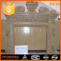 decoration white marble pallet stove fireplace