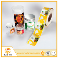roll paper label printing coated paper bottle jar label sticker with color printing