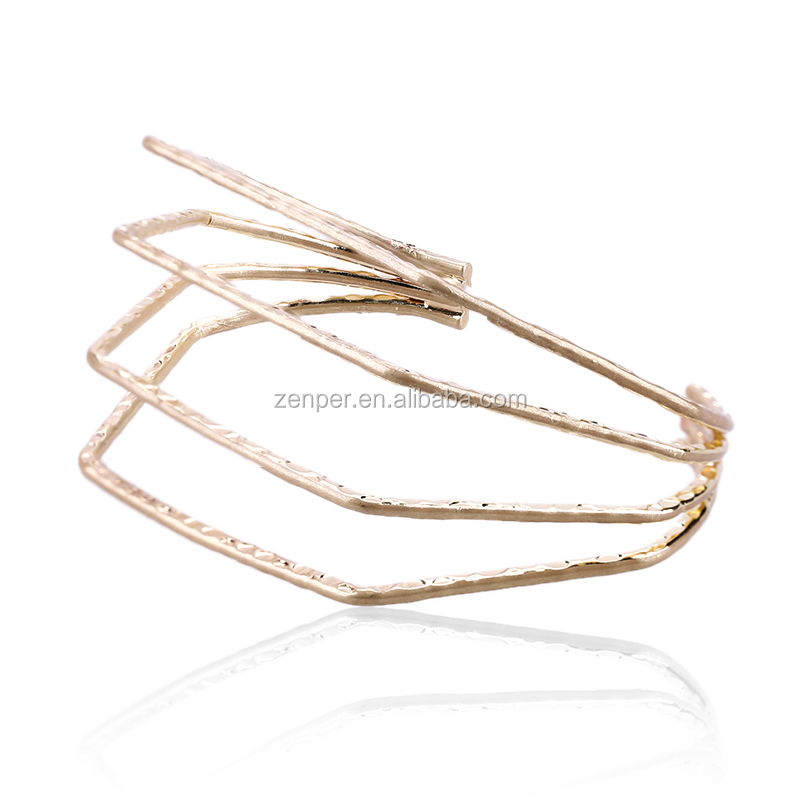 Minimalist wristlet cuff bangle bracelet matt copper gold plated bangle brass jewelry charm open bangle