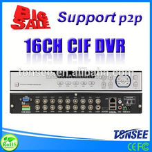 H.264 CIF 16CH DVR with Cloud Technolog, motorcycle dvr,bulb cctv camera