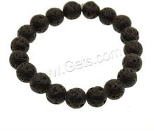 Lava Round Yellow And Black Bead Bracelet