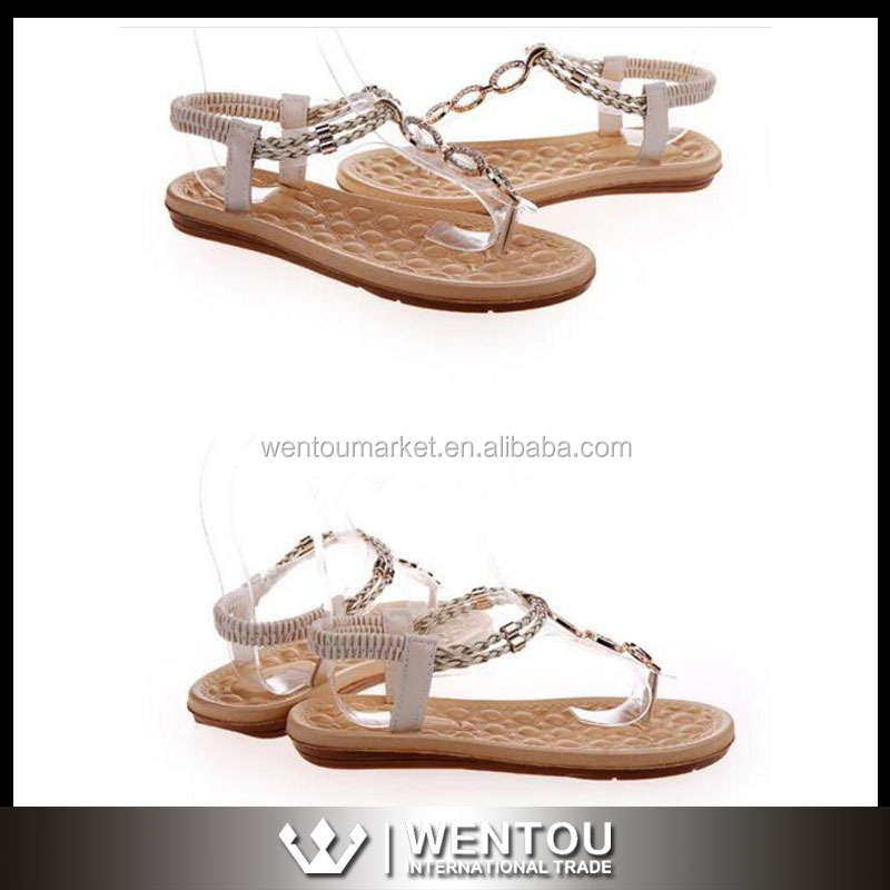 Handmade New Designed Diamond Flat Sandals