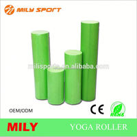 Training heated popular hollow circle dot foam roller for fitness eva