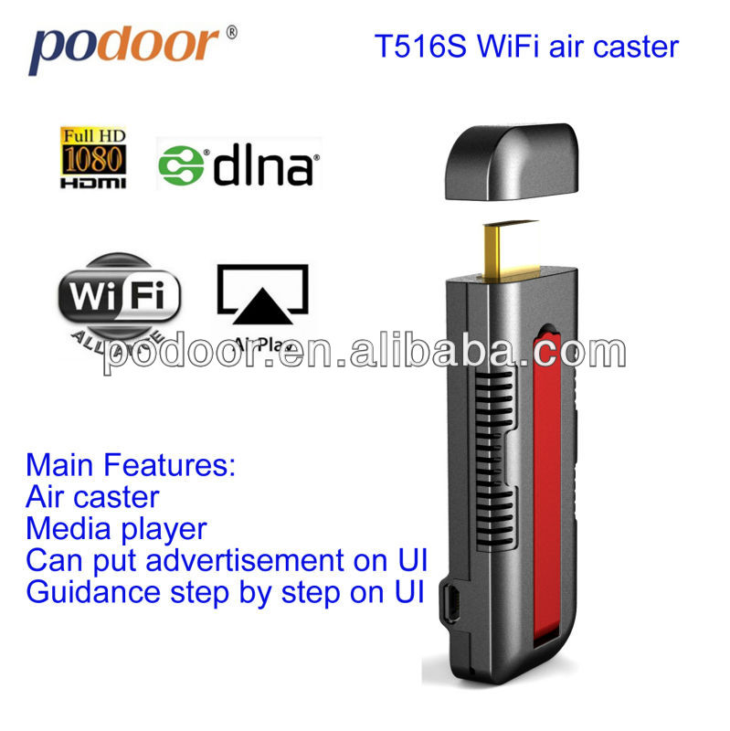 Air cast Wireless Display HDMI Miracast / DLNA / EZCAST Dongle / iPush WIFI Display T516s