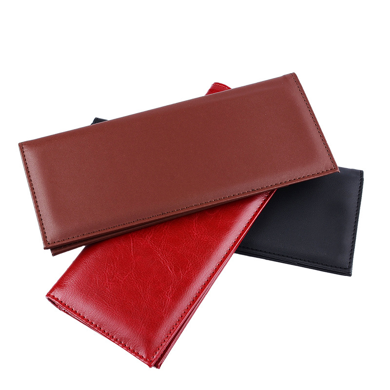 long style restaurant check money holder bifold bill cover
