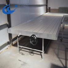 Agriculture Long Bench Rolling ebb and flow table/ bench with planting nursery seedbed/table/trays