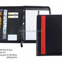 Factory Sale Zippered Leather Portfolio And
